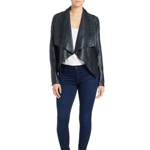 Blank NYC Faux Leather Pleated Jacket